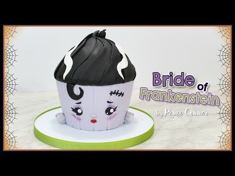 Cute Bride of Frankie Giant Cupcake Tutorial!  New to my YouTube channel this week :)