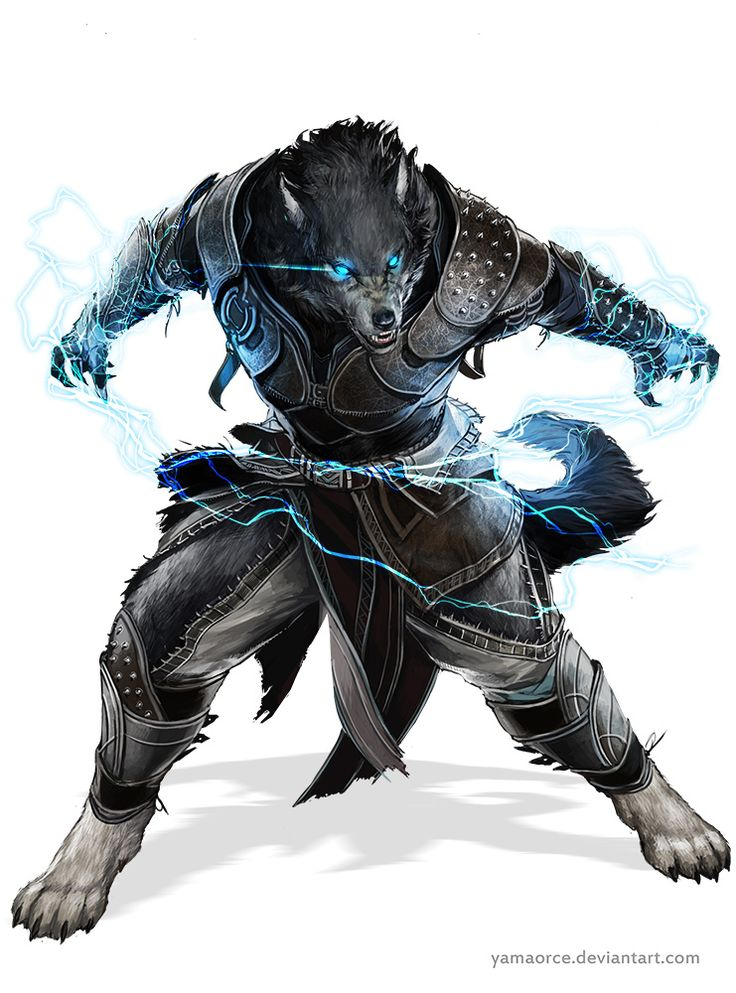 Werefolk are similar to Werewolves but they are constantly in wolf form. However this does mean that they can speak in their form as well. Werefolk have quarter Demon blood and three quarter Human blood.
