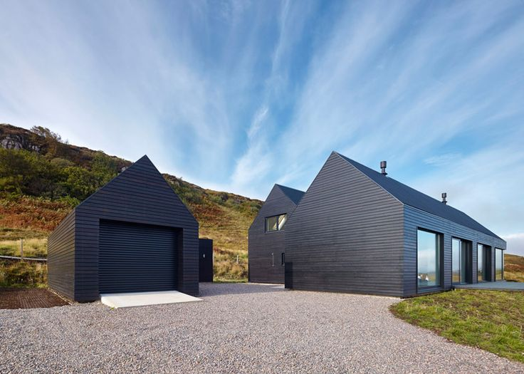 What do you think of this black-stained house situated on Scotland's Isle of Skye?