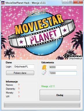 MovieStarPlanet Hack na Diamenty i Monety