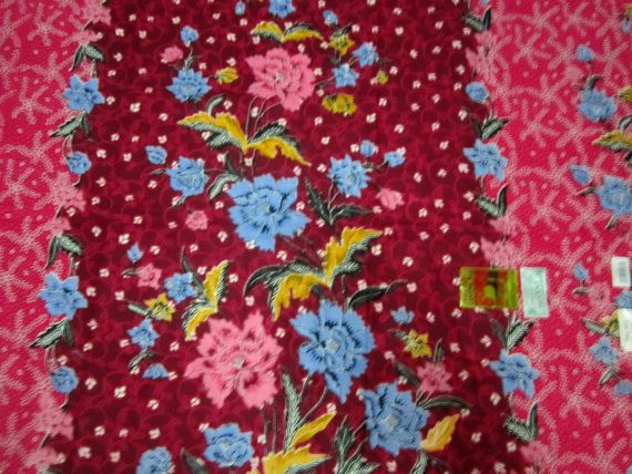 Cotton  Batik Floral Pink  Sarong /Pareo  by BatikCreationsShop,