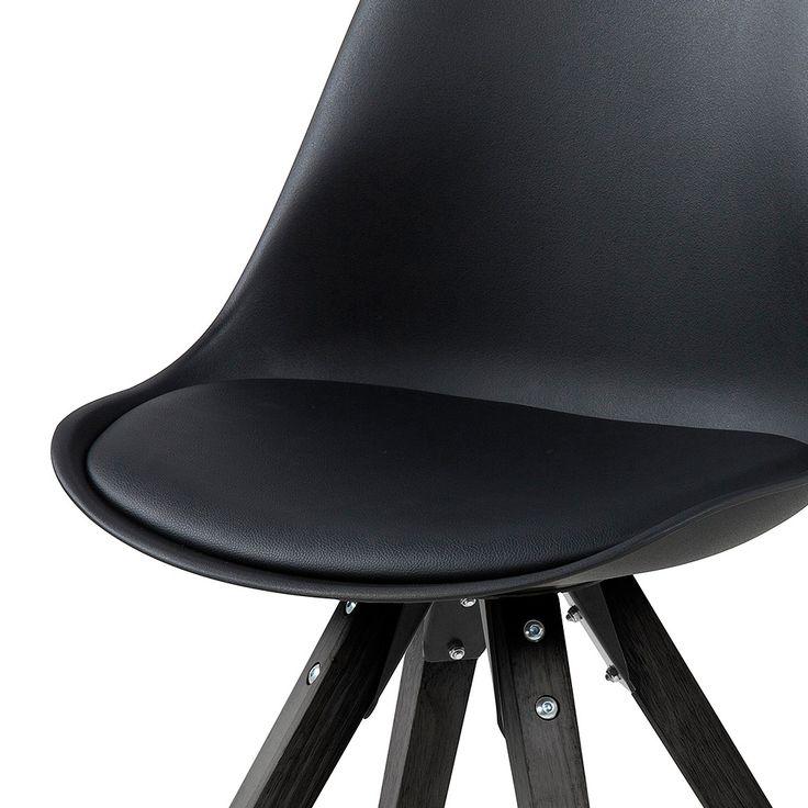 Jídelní židle Damian (SET 2 ks), černá - 2