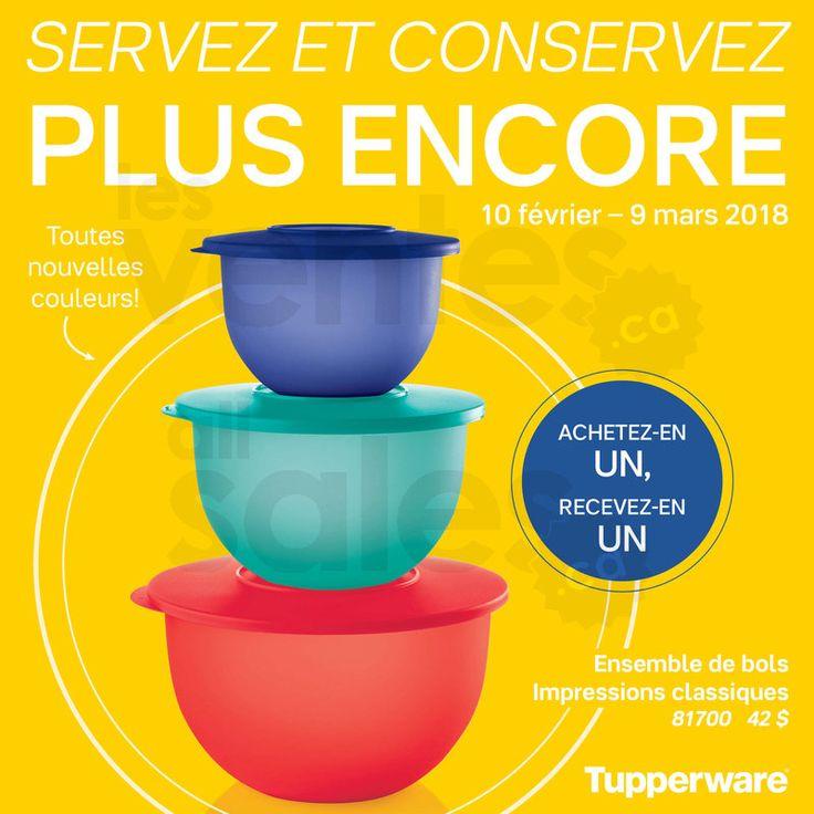 Ensemble de bols Tupperware à 2 pour 1 | lesventes.ca