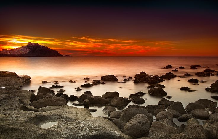 Castelsardo sunset by Marco Carmassi on 500px