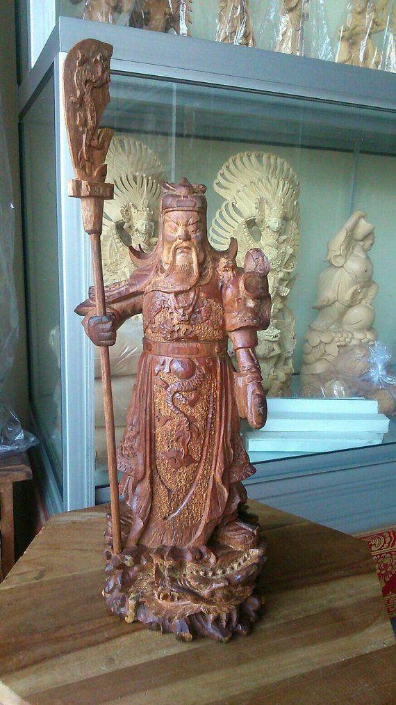 Wood carving Agarwood carving  sculpture Kwangkong  by JavaCulture