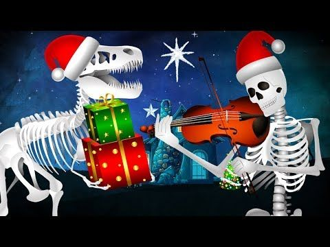 (50) Skeleton Christmas | Jingle Bells Song | Skeleton Finger Family Rhyme | Funny Colors Skeleton Rhymes - YouTube