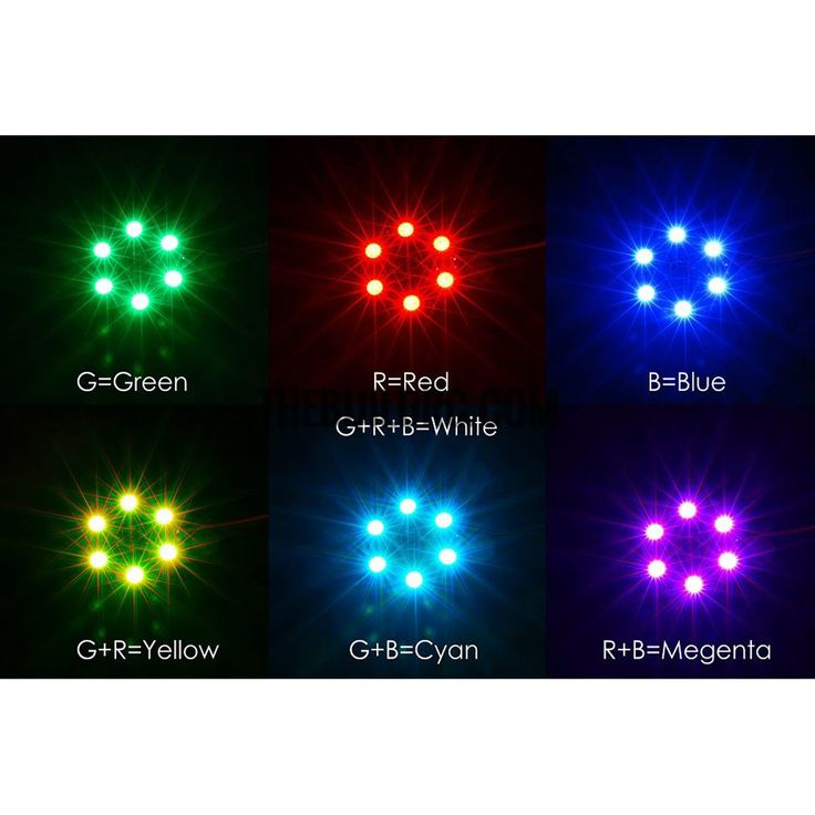 Matek RGB 5050 LED Lamp Panel 12 7 Colors Switch For FPV Helicopter Multi-axis