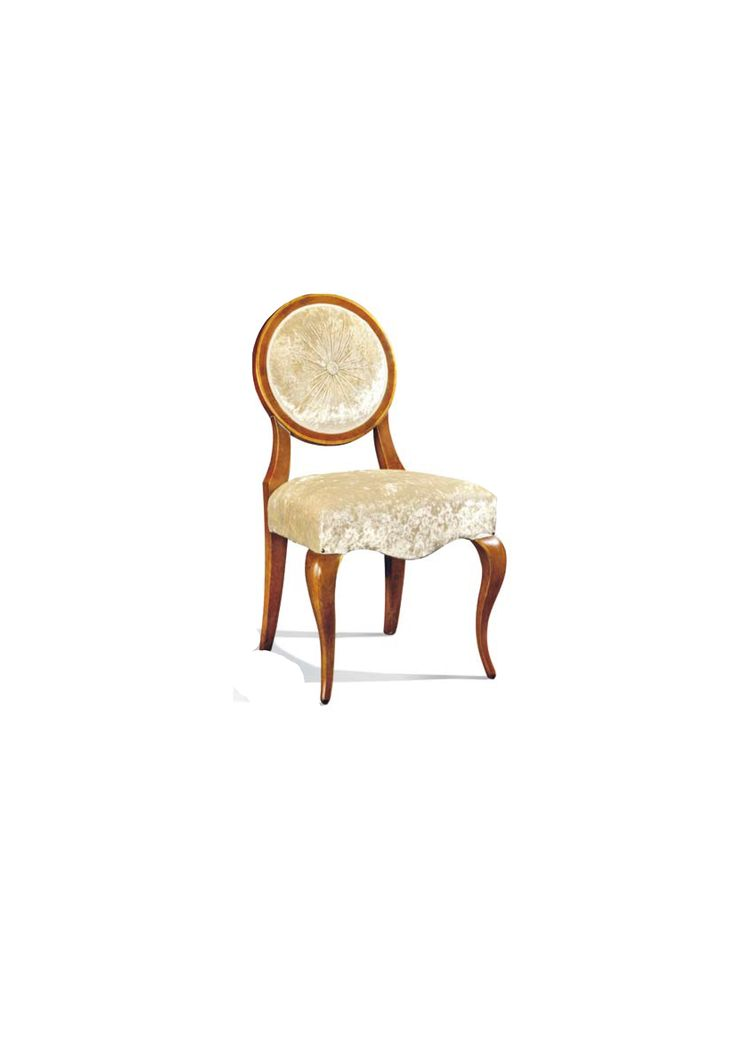 Scaun din lemn masiv art 510s Upholstered Chair Meggoirini Santino Collection