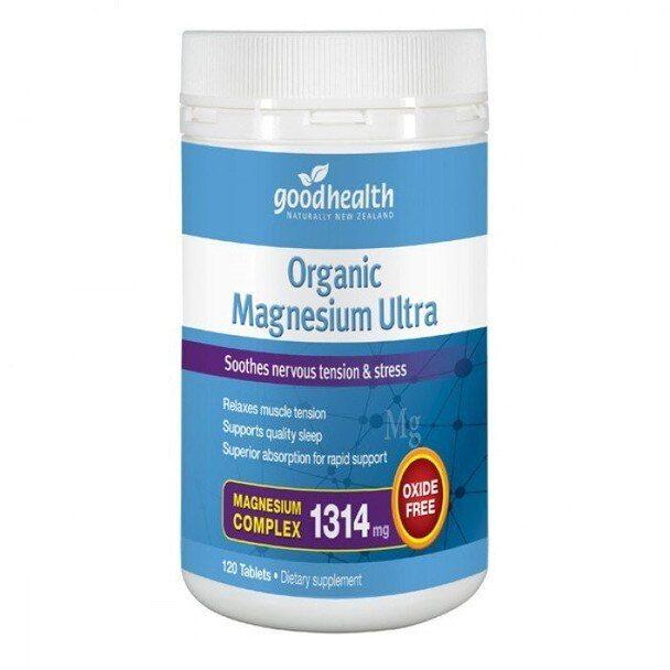 Organic Magnesium Ultra 120 Tablets Vita Health Ltd Good Manufacturing Practice Organic Health
