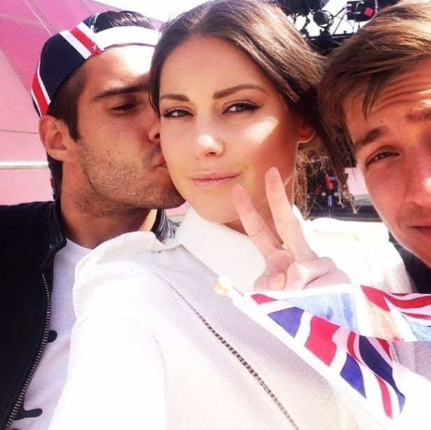 Made In Chelsea's Louise Thompson gets kiss from Alik Alfus - 22 October.