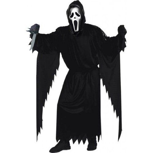 Fun World Costumes Men's Scream Costume Plus Size Black and White
