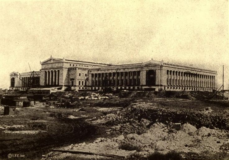 The Field Museum under construction, 1921, Chicago