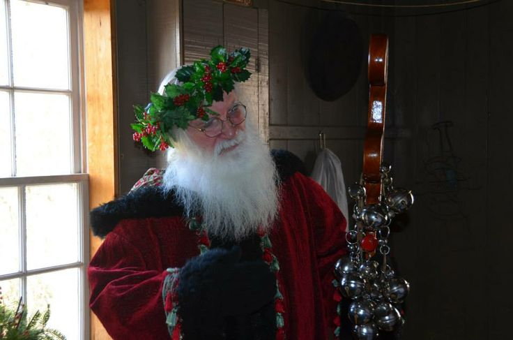 An amazing Father Christmas : Ross Farm Museum, New Ross,  Nova Scotia, Canada.