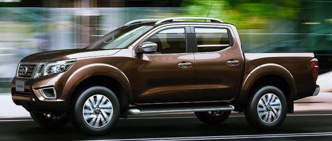 Side view of #Nissan #Navara #PickupTruck 2015 in glorious motion. New Model Nissan Navara NP300 Bangkok, Thailand available for export at Jim Autos Thailand http://toyota-dealer.org/2015-nissan-navara-np300.html