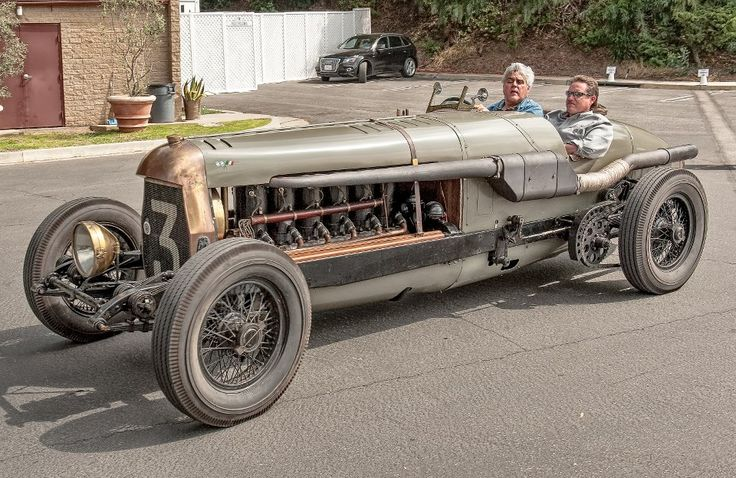 Jay Leno in his 1917 Fiat Botafogo Special