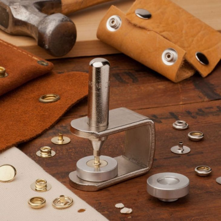 Snap Setter & Snap Kit - Add elegant details easily - with brass or nickle snaps
