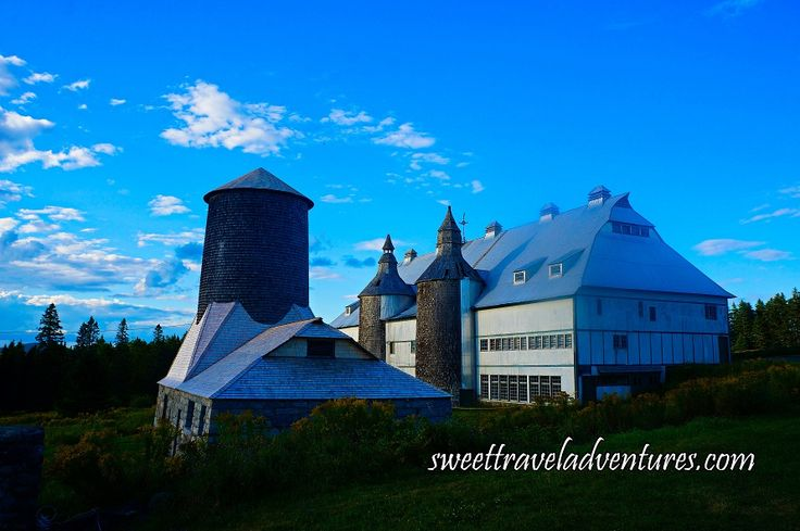 Van Horne Estate's Grain Elevator and Barn on Ministers Island Near St. Andrews by-the-Sea, New Brunswick, Canada