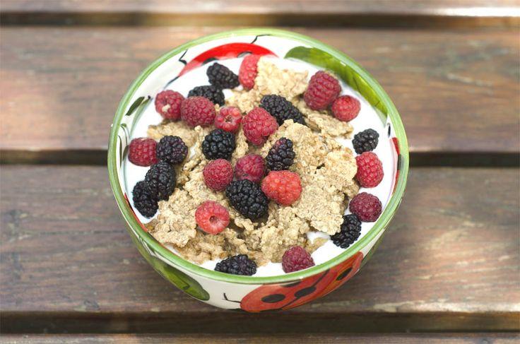 "Breakfast with yogurt, raspberry and blackberry. Ceramic by ceramiche2m ""www.ceramiche2m.it"""