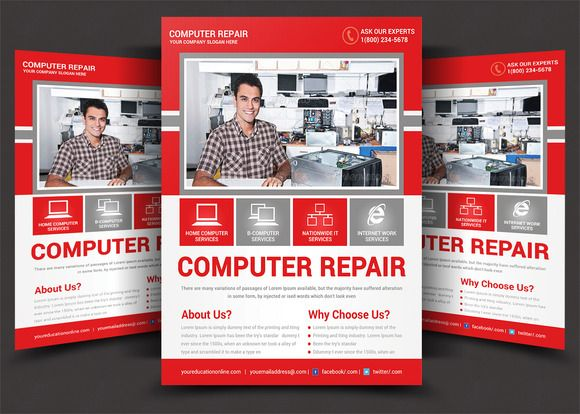Computer Repair Flyer Template Creativework  Templates