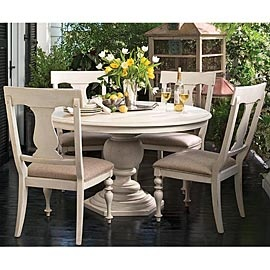 Paula Deen Home Round Dining Table W/ 4 Splat Back Dining Side Chairs    Love This Table For A Breakfast Nook!