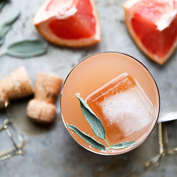 This grapefruit and sage cocktail would be perfect for brunch.