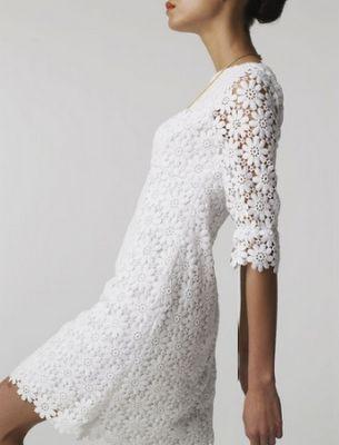 Mod 60s Inspired Wedding Dress