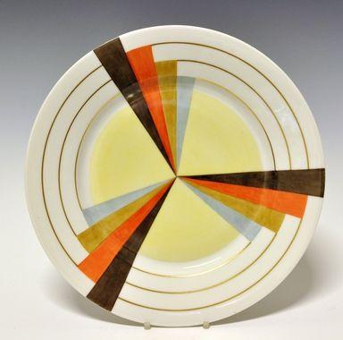 Dinner plate by Nora Gulbrandsen for Porsgrund Porselen. Production year 1927-37. Model 15.00  Decor 5470