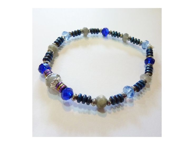 Bracelet Hématite & Labradorite Facetée