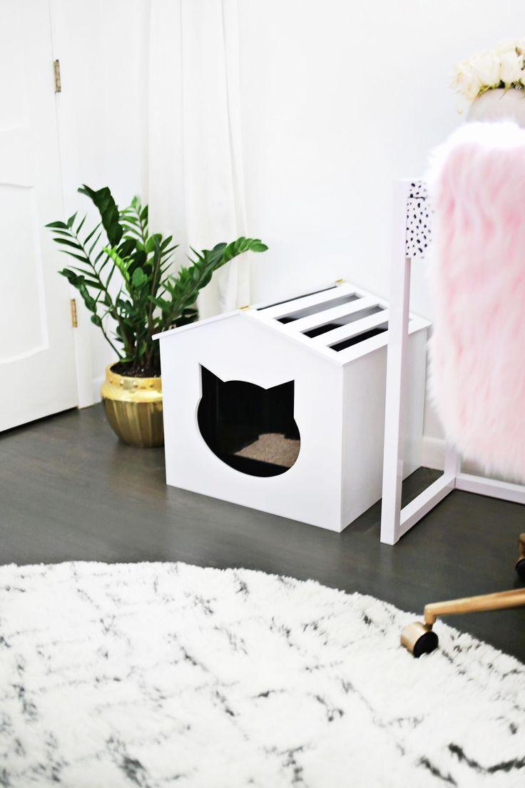 Litter Box Cover DIY! | A Beautiful Mess | Bloglovin'