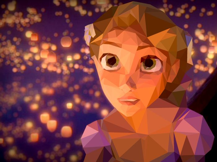 Low Polygon - Fanart Tangled