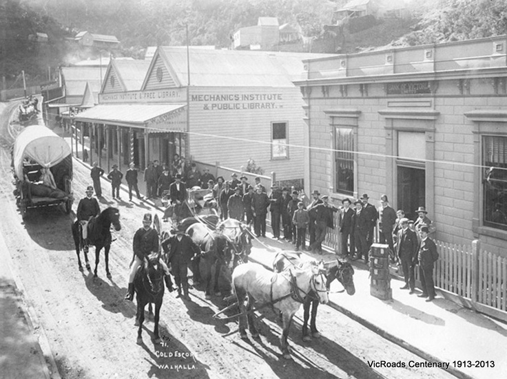 1900 Walhalla township. VicRoads Centenary 1913-2013