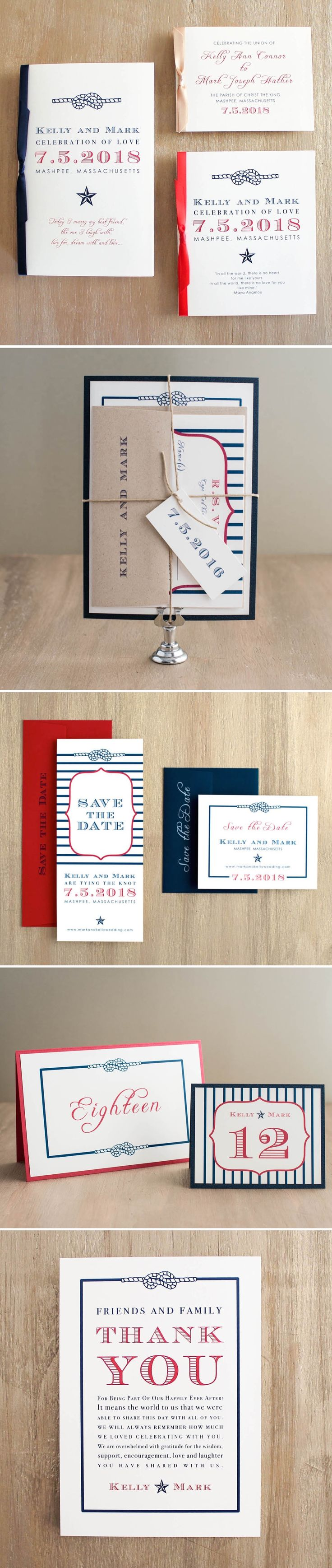 thank you card wording wedding no gift%0A Patrioticinspired wedding invitation  save the dates  ceremony programs   table numbers and thank you cards  of July Wedding