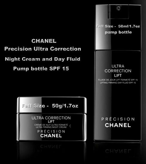 CHANEL Precision Ultra Correction Night Cream and Day Fluid pump bottle SPF 15