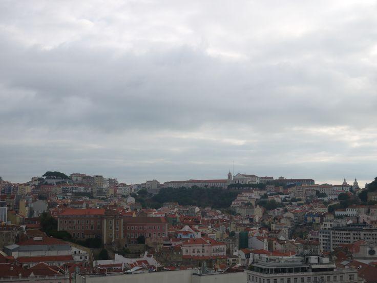 Vue ciel de Lisbonne