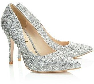 Womens silver court shoe from Lipsy - £75 at ClothingByColour.com