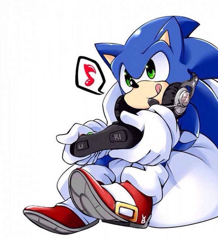 Sonic is playing video game #sonic #sonicthehedgehog