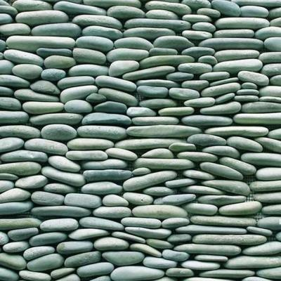 Solistone Standing Pebbles Cypress 4 In. x 12 In. Natural Stone River Rock Wall Tile