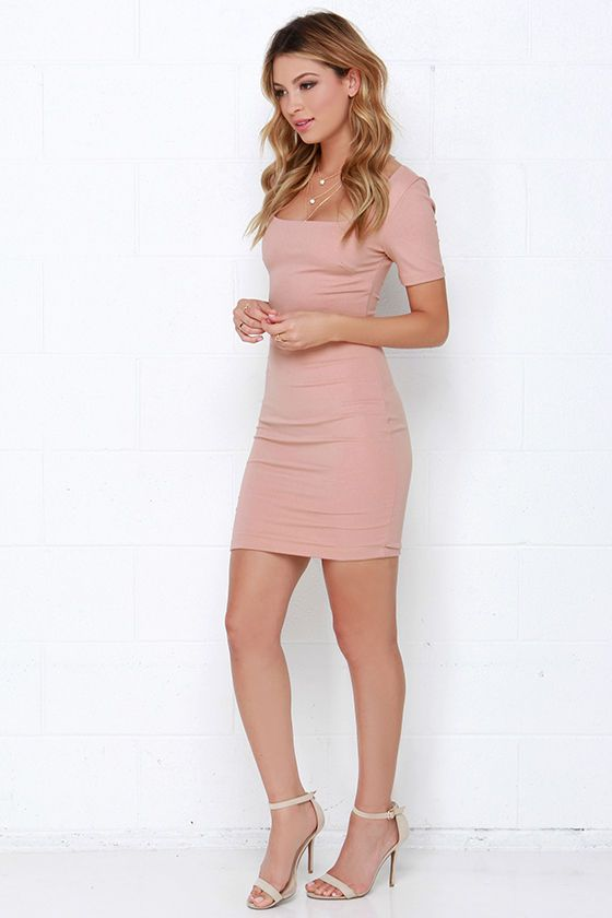 First Lady Blush Bodycon Dress at Lulus.com!