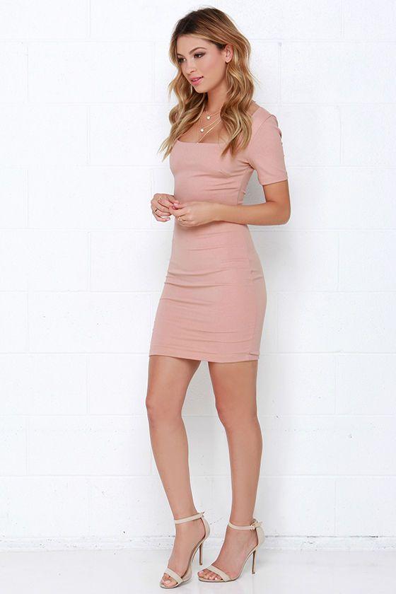 First Lady Blush Bodycon Dress at Lulus.com!