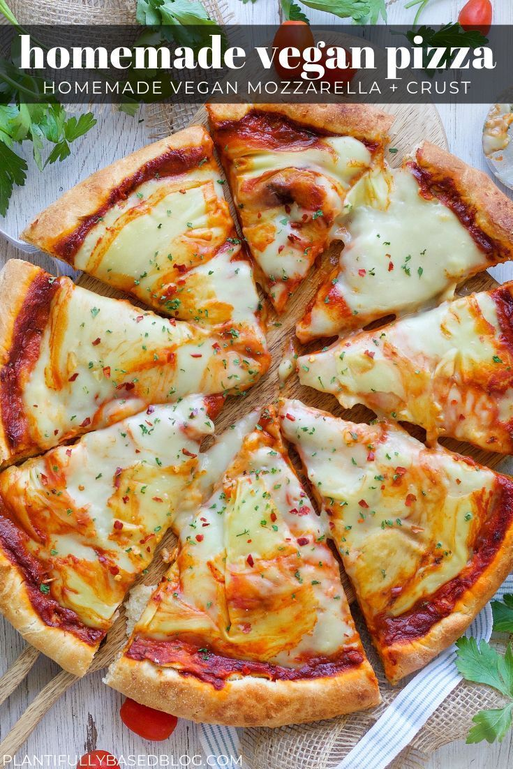 Homemade Vegan Pizza In 2020 Vegan Cheese Recipes Vegan Pizza Cheese Vegan Pizza Recipe