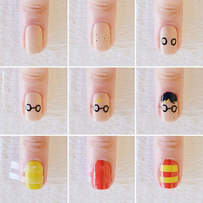 Nail Art para esperar el estreno de Harry Potter y el niño maldito | Decoración de Uñas - Manicura y Nail Art