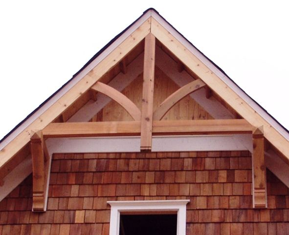 The 25 best roof brackets ideas on pinterest gable for Craftsman gable brackets