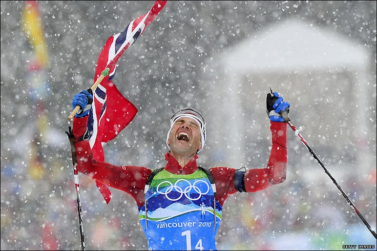 Ole Einar Bjoerndalen sets record for Winter Olympic Gold Medals