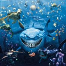 Fototapet - Nemo Shark. Fotostat med haj fra Pixar tegnefilmen find Nemo