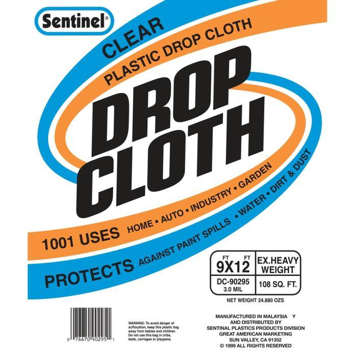 gam dc90295 sentinel clear drop cloths