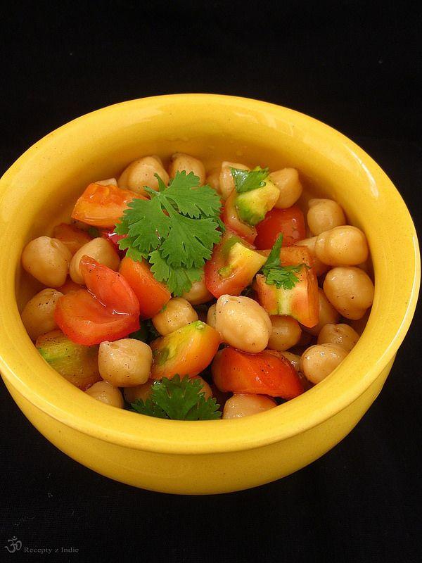 Recepty z Indie: Cícerovy šalát / Chickpea salad