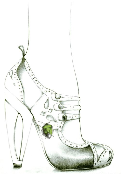 illustration mode escarpin talon et punaise Florence Gendre