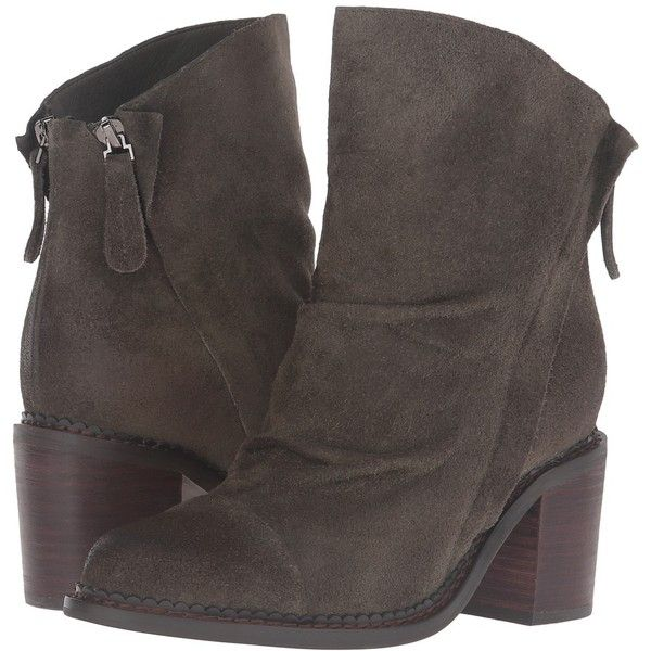 Sbicca Millie (Forest Green) Women's Boots ($120) ❤ liked on Polyvore featuring shoes, boots, ankle boots, ankle bootie boots, zip ankle boots, bootie shoes, sbicca boots and stacked heel boots