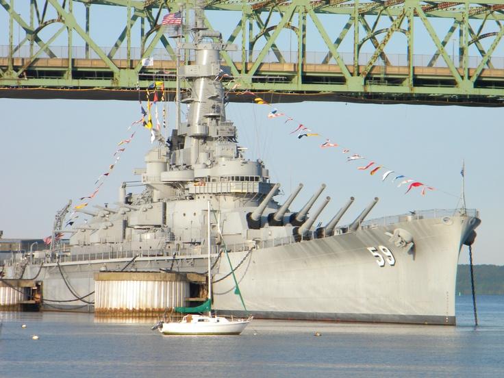 "USS Massachusetts - Battleship Cove, Fall River, MA a/k/a ""Big Mamie"""