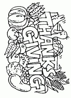thanksgiving coloring pages print